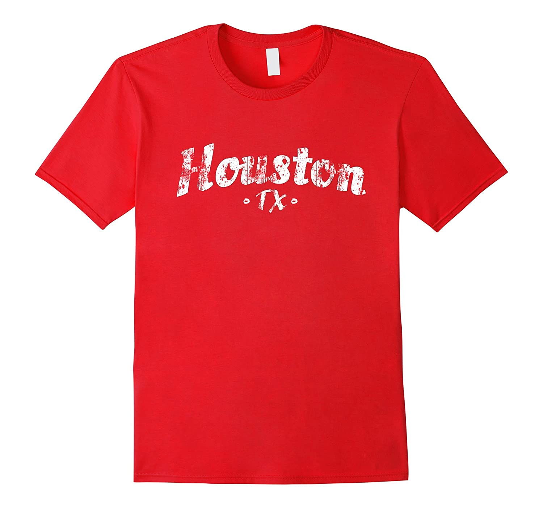 HOUSTON TX T Shirt Texas Distressed Style Houston Tee-Shirt-Art