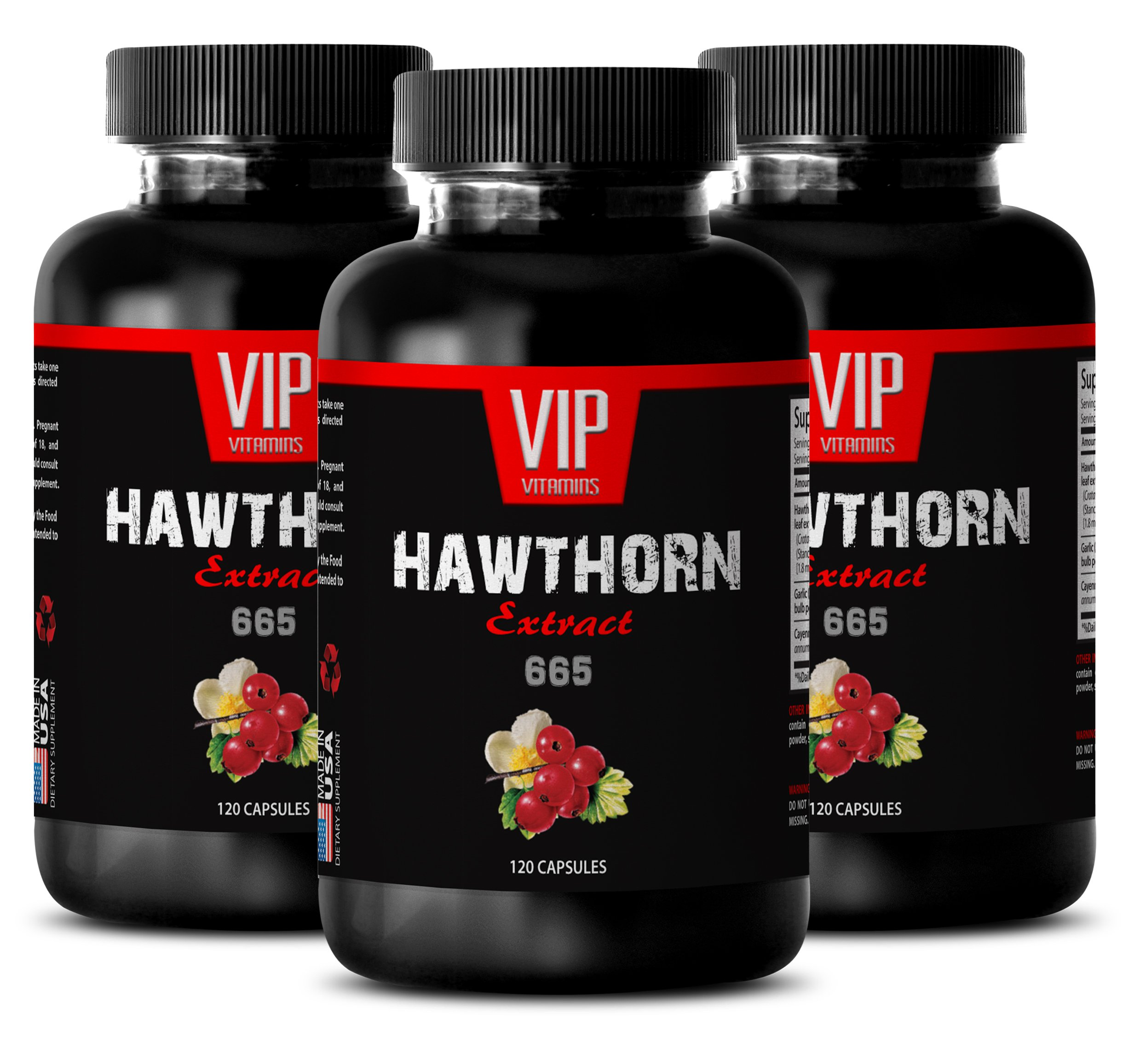 herbal supplements for immune system - HAWTHORN EXTRACT 665 - Immunity booster - 3 Bottles 360 Capsules