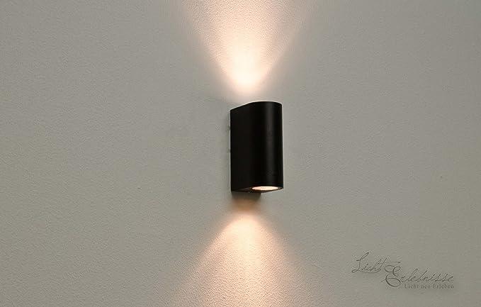 Moderna lampada da parete in nero con 2 x 3 2 w gu10 led 230 v