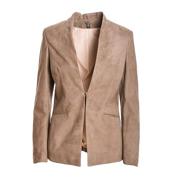 new style 2b550 99d5c Eleventy Blazer Donna 980PL0074PEL2300903 Pelle Marrone ...