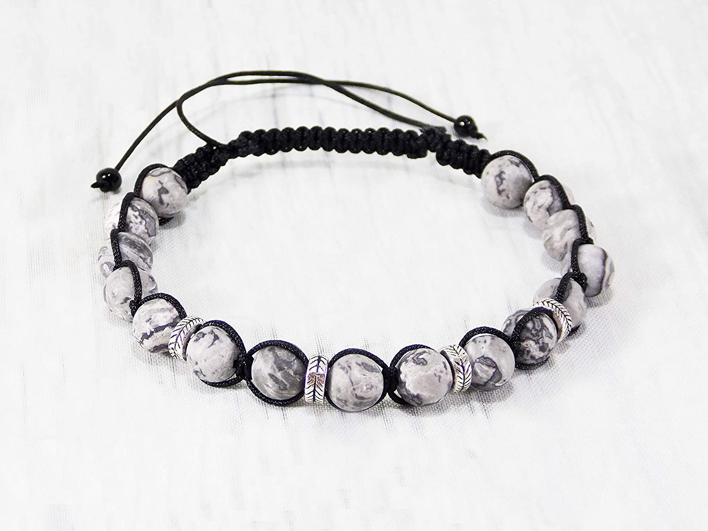Amazon.com: HANDMADE Men bracelets ideas macrame beaded for ...