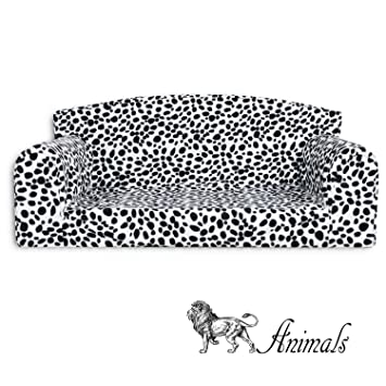 Animal - Sofá para mascota, diseño de dálmata,cama de 3 tamaños para perro