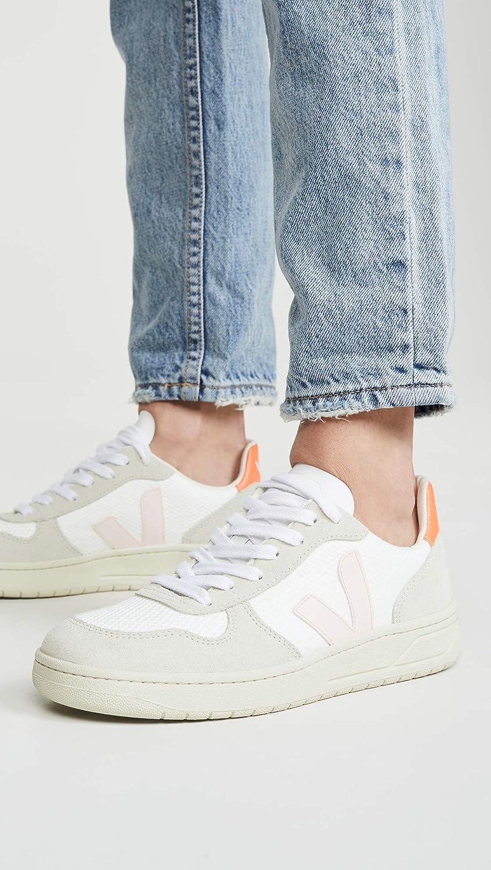 V-10 Sneakers, White/Petale/Orange Fluo