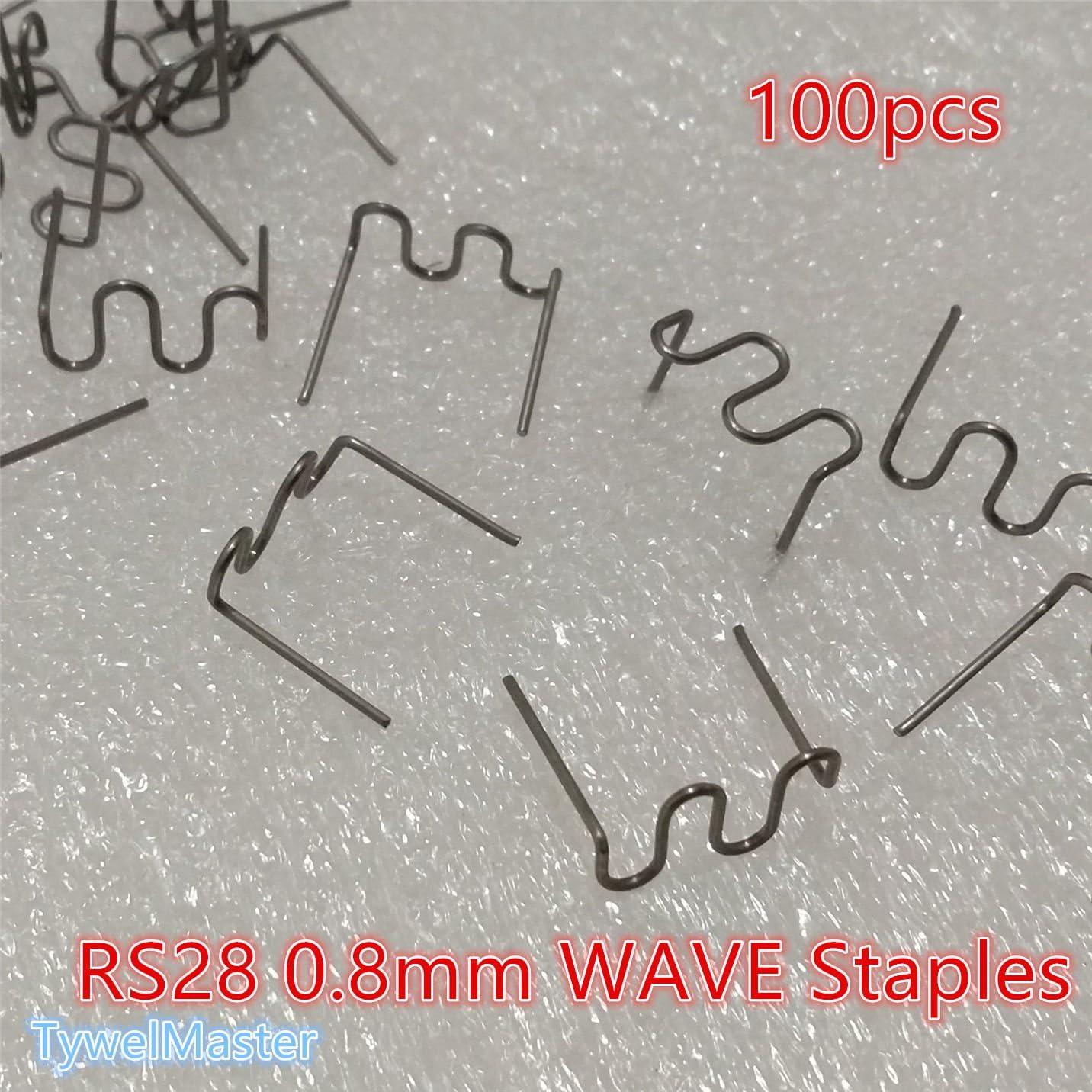 RS18-0,8 mm Agrafes chaudes pour agrafeuse /à chaud en plastique Bumper Carrosserie R/éparation Acier Inoxydable Traitement Pr/éd/écoup/é 6 types disponibles 100 agrafes semi-ondul/ées hot staplers