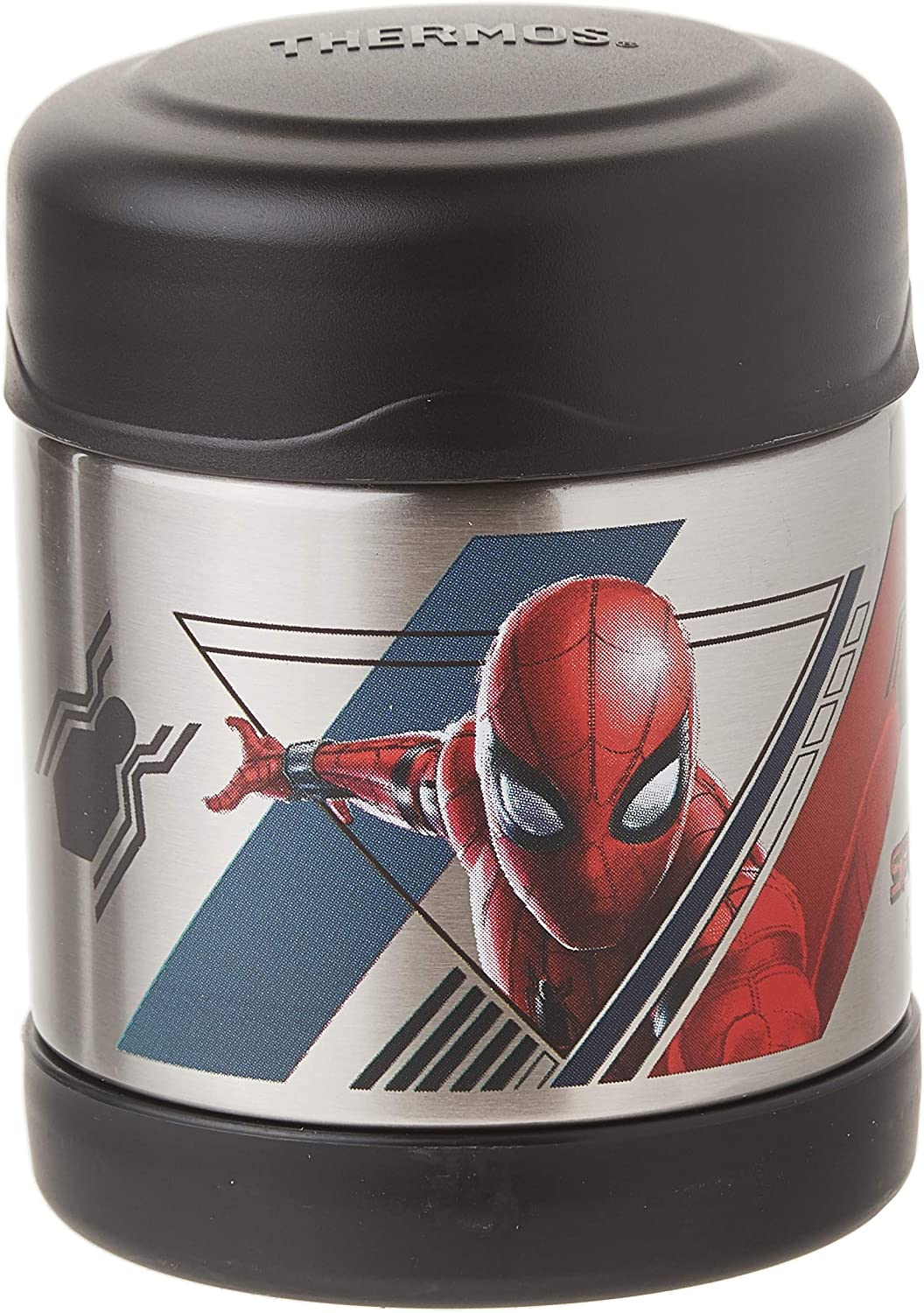 Thermos Funtainer 10 Ounce Food Jar (Spiderman Black)