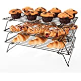 Savisto 3 Tier Cake Cooling Rack   Stackable Stainless Steel Non-Stick Wire Cooling Stand for Baking