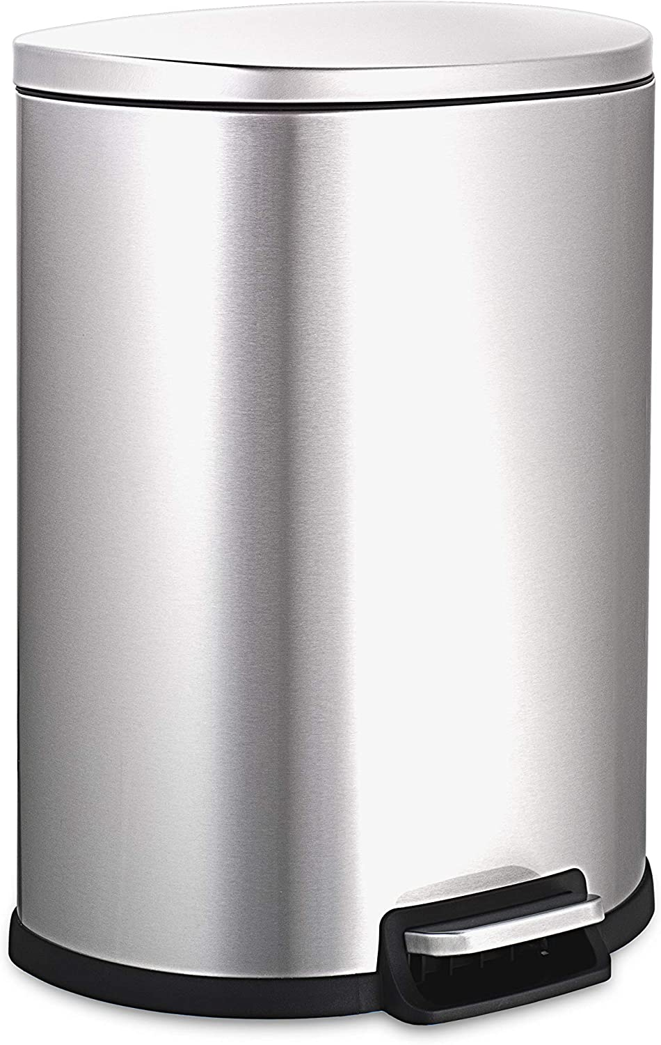 NINESTARS AMZ-SOT-50-3 Step-on Trashcan, 13 Gal, STAINLESS STEEL