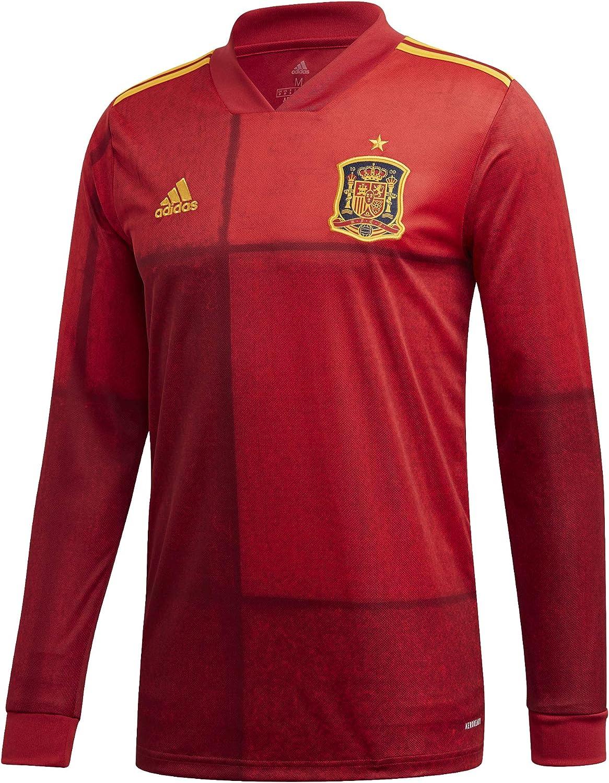 Acostumbrar Contra la voluntad Artefacto  Amazon.com : adidas 2020-2021 Spain Home Long Sleeve Football Soccer T-Shirt  Jersey : Clothing