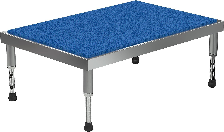 Vestil Adjustable Ergo-Mat Work-Mate Stand - 36in.W x 24in.D, 500-Lb. Capacity, Aluminum, Model Number AHT-H-2436-A