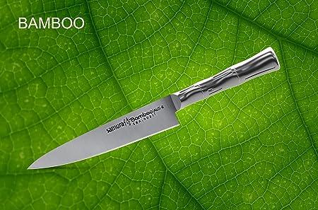 Samura Bamboo - Cuchillo profesional japonés de cocina (5,0 ...