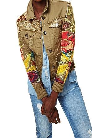 92e8d5e9da6dda Desigual Damen Jacke, Farbe:dunkelgrün;Größe:46: Amazon.de: Bekleidung