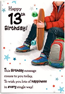 Birthday Card For Thirteen 13 Year Old Boy