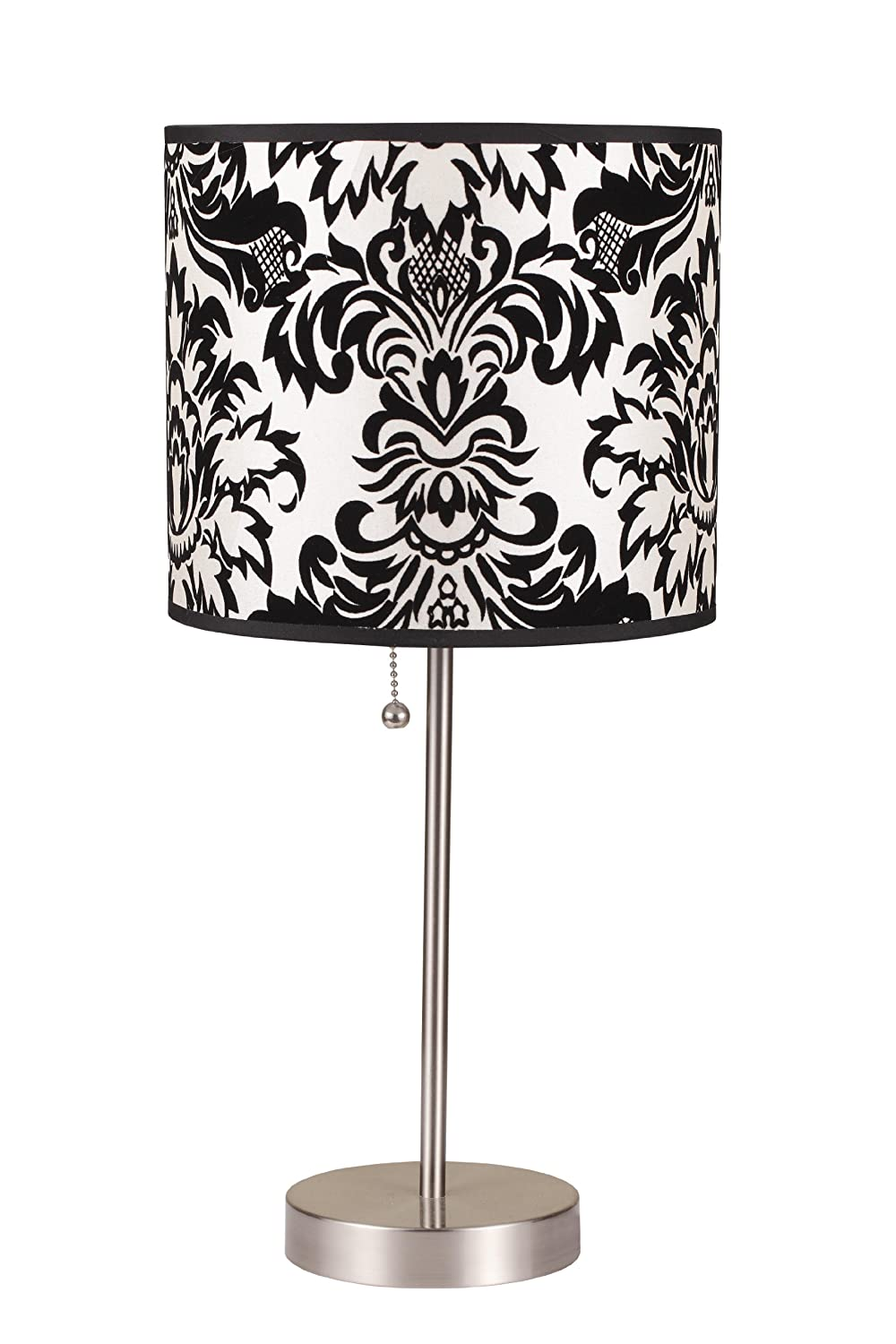 Amazon.com: ORE International 8312B 19 Inch Brushed Steel Table Lamp With  Damask Print Shade: Home U0026 Kitchen