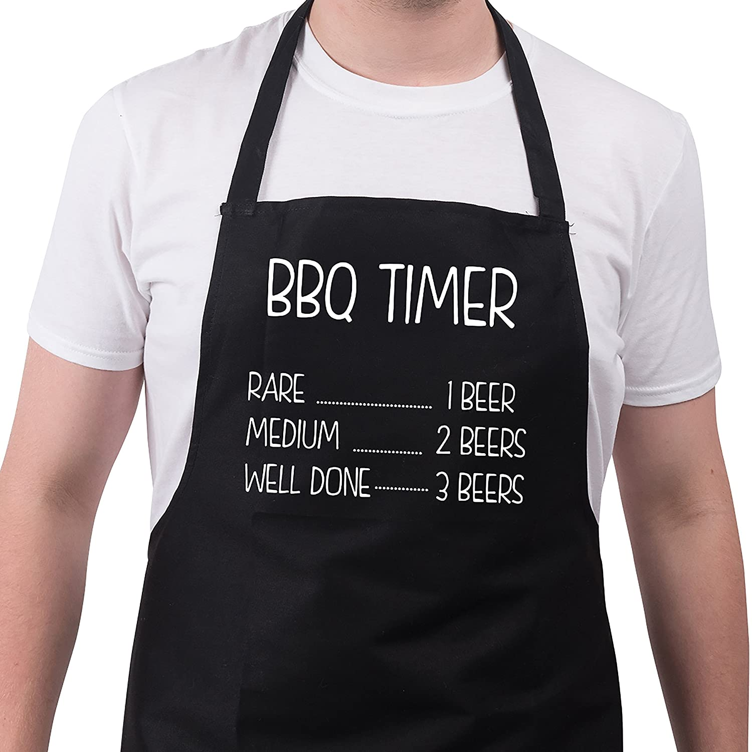 Bang Tidy Clothing Funny BBQ Apron Novelty Aprons Cooking Gifts for Men BBQ Timer Black One Size FD4835P1