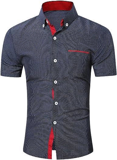 OHQ Camisa para Hombre Verano Polo Camisa De Onda Casual para Hombres Camisa De Manga Corta Blusa Negocio Delgado Tops del AlgodóN Tops Blusa Casual Chaleco Transpirable CóModo: Amazon.es: Ropa y accesorios