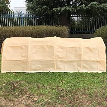 Shatex Plant Protection Breathable Reusable Plant Cover with Grommets 12x16ft Tan & Amazon.com: Shatex Plant Protection Breathable Reusable Plant ...