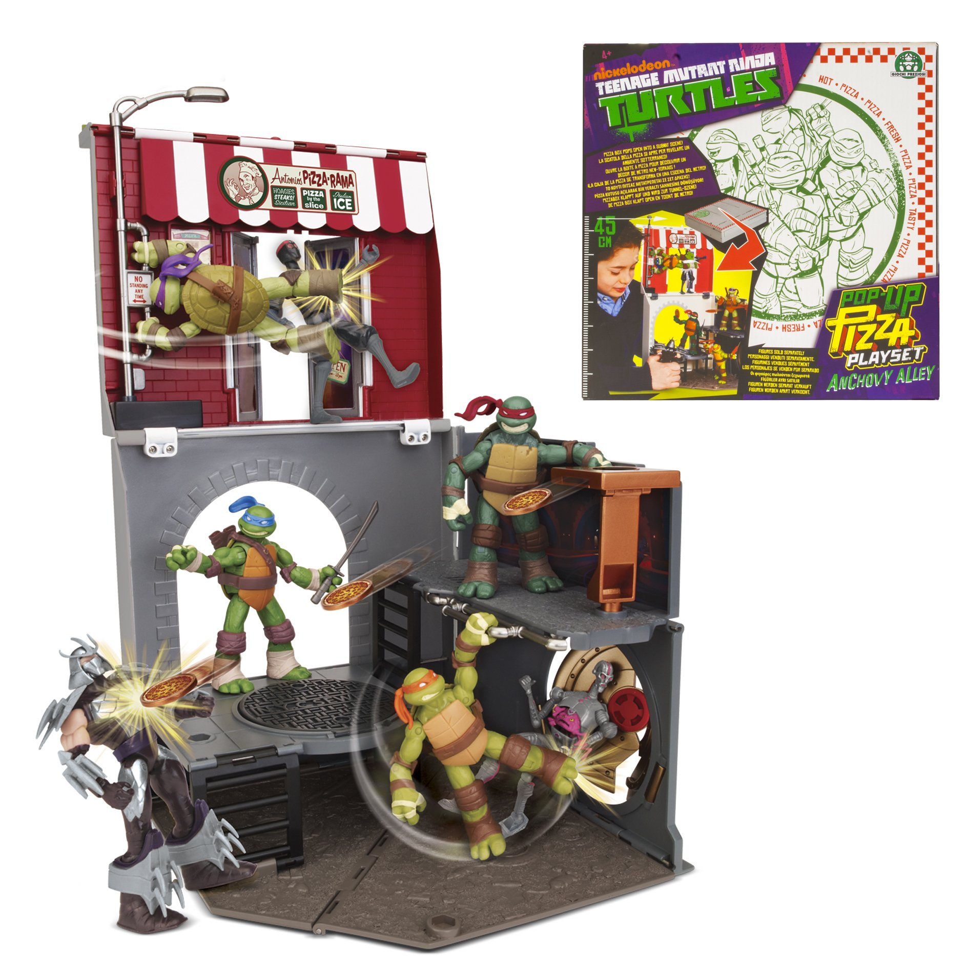 Teenage Mutant Ninja Turtles Pop-Up Pizza Anchovy Alley Playset
