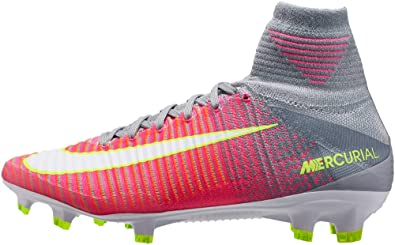 eb613a51355a7 Nike Womens Mercurial Superfly V FG Cleats  Hyper Pink  (6.5)