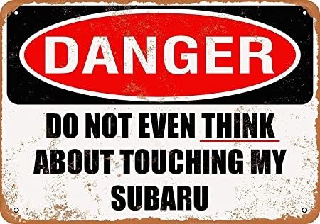 Amazon.com: Mariner Do Not Touch My Subaru - Cartel de ...