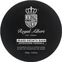 Royal Albert - Bálsamo de Crecimiento de Barba y Bigote SuperGrow 6% - 100g - Libre de Sulfatos, Parabenos y Alcohol - Auxiliar en el Crecimiento de Barba y Bigote - Crecer Barba y Bigote - Crecimiento de Vello Facial - No Contiene Minoxidil - Barber Grade - Barberia - Hombre