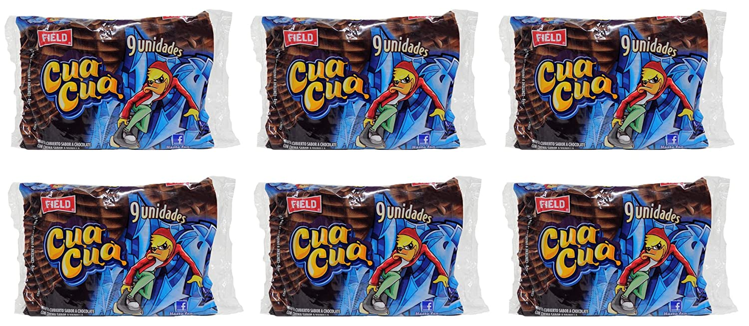 Amazon.com : Cua Cua Chocolate del Peru 6 Pack of 9 units of 162 gr each - Total 54 chocolates : Grocery & Gourmet Food