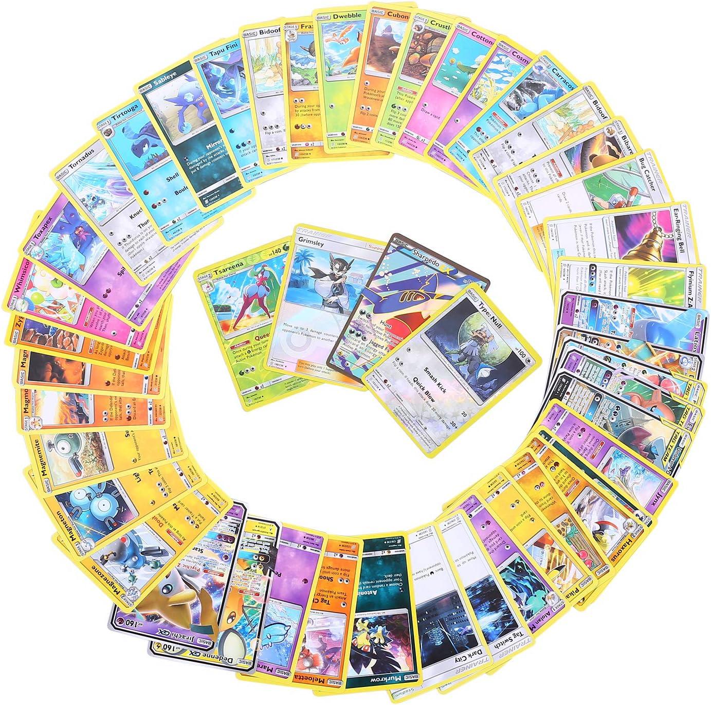 GX EX Energy Trainer Cartes Pokemon Flash Cartes Evolutions 84Pcs Carte de Pokemon Jeux de Cartes Style al/éatoire Sun /& Moon Series Cosmic Eclipse