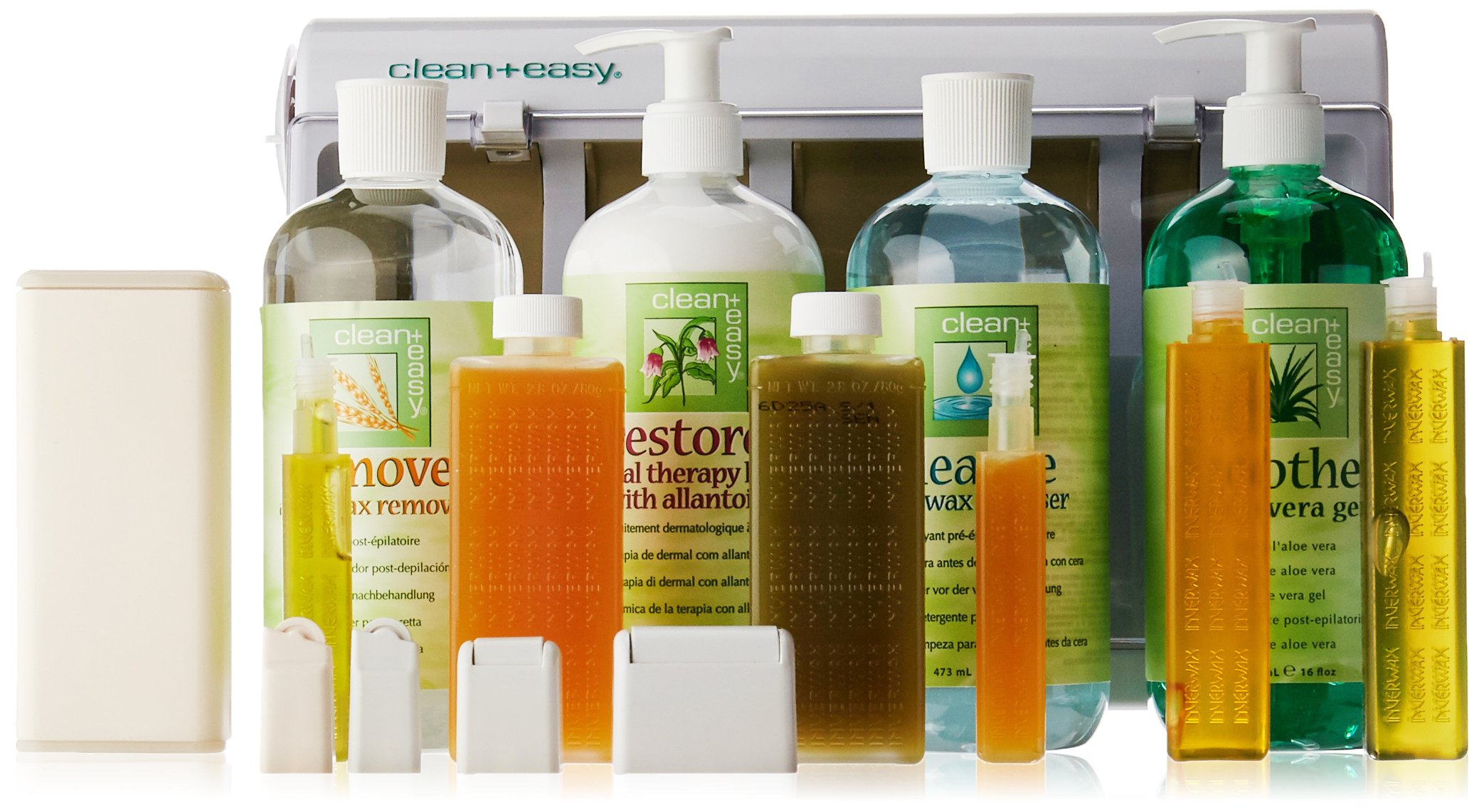 Clean + Easy Professional Waxing Spa Full Service Kit, 20 Count by Clean + Easy (Image #1)