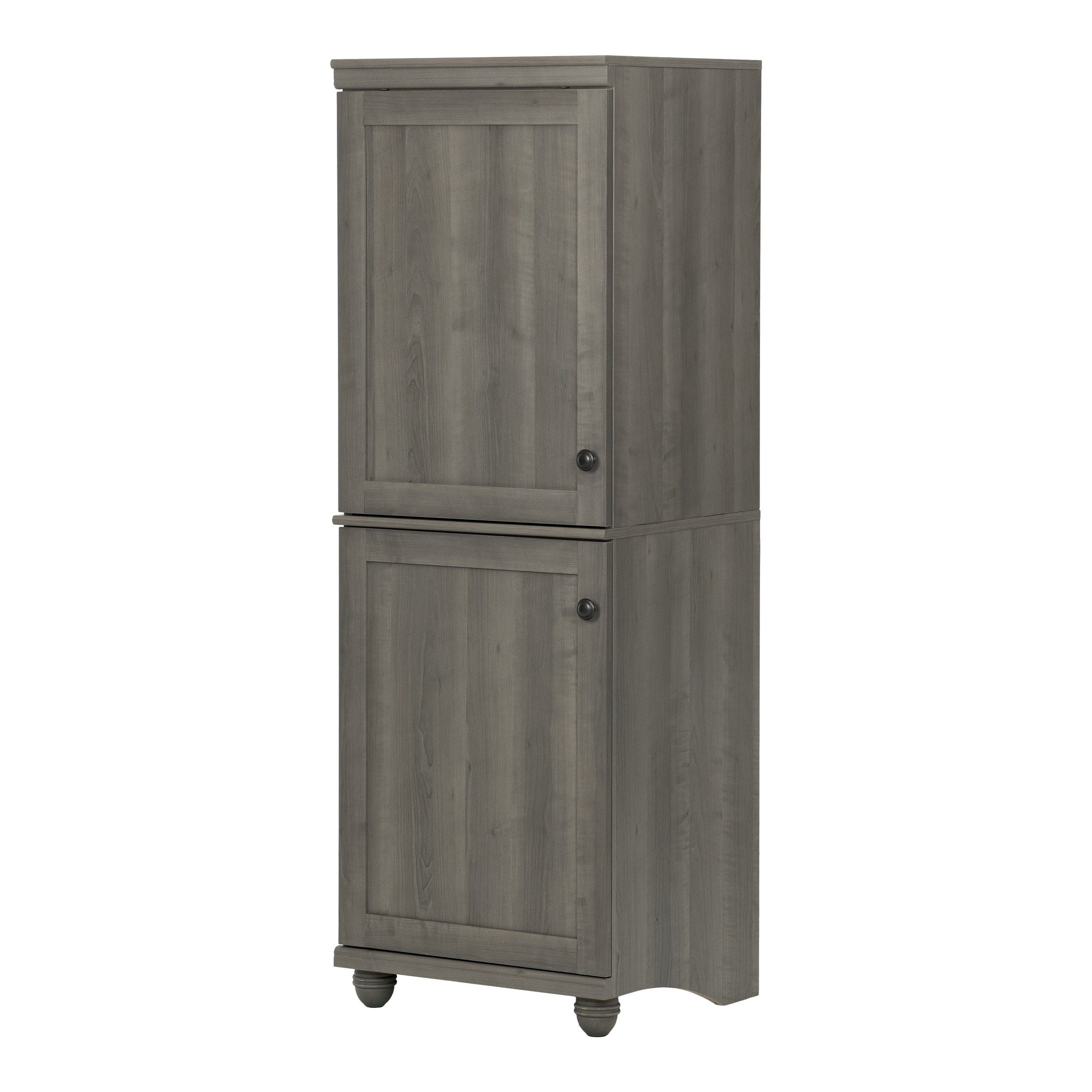 South Shore Hopedale Narrow 2-Door Storage Cabinet, Gray Maple by South Shore
