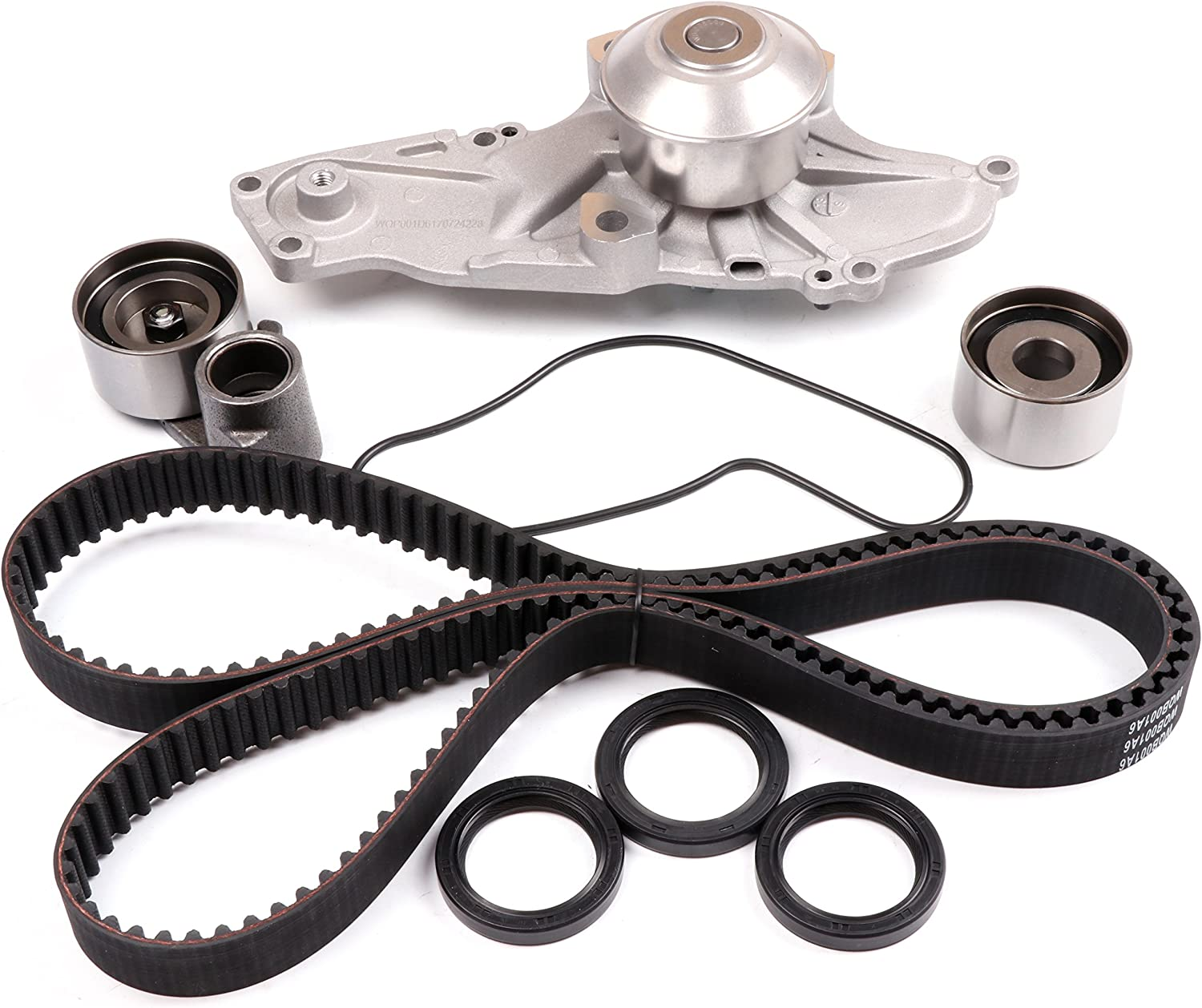 ANPART Timing Belt Kit Fit For 1997-1999 2001-2003 Acura CL 2001-2002 Acura MDX 1999-2003 Acura TL 1998-2002 Honda Accord 1999-2004 Honda Odyssey Timing Belt Water Pump Tensioner Gasket Set