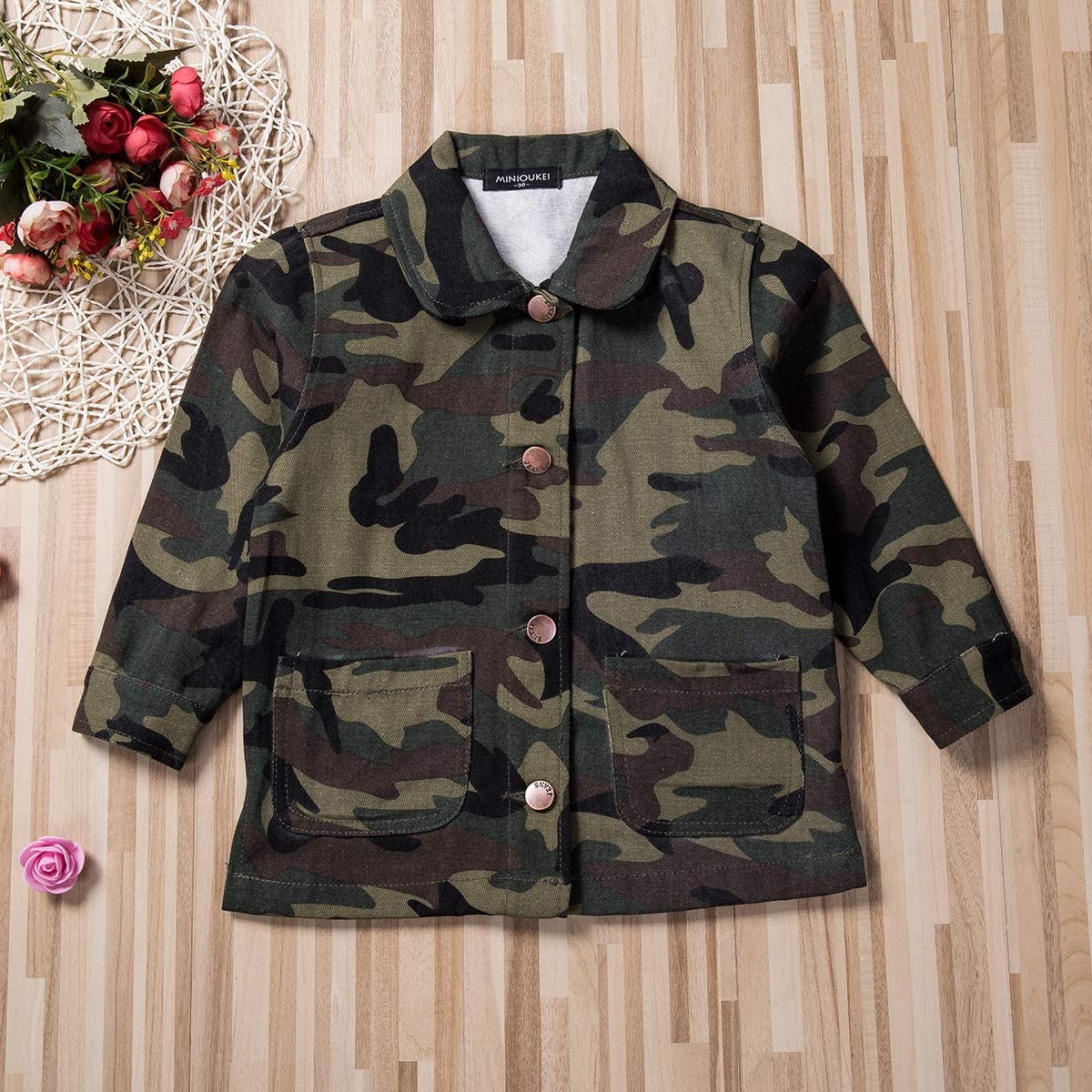 Toddler Baby Girls Fall Winter Trench Coat Wind Jacket Kids ...