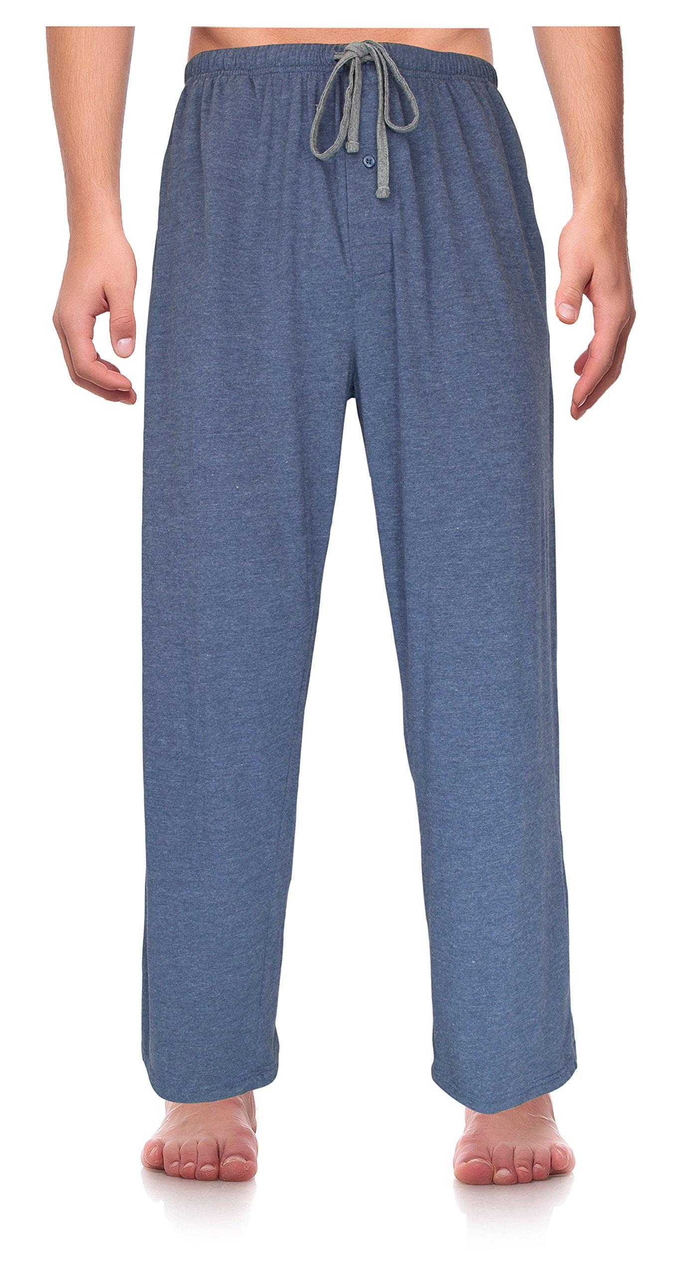 RK Classical Sleepwear Men's Knit Pajama Pants, Size Large Tall Blue