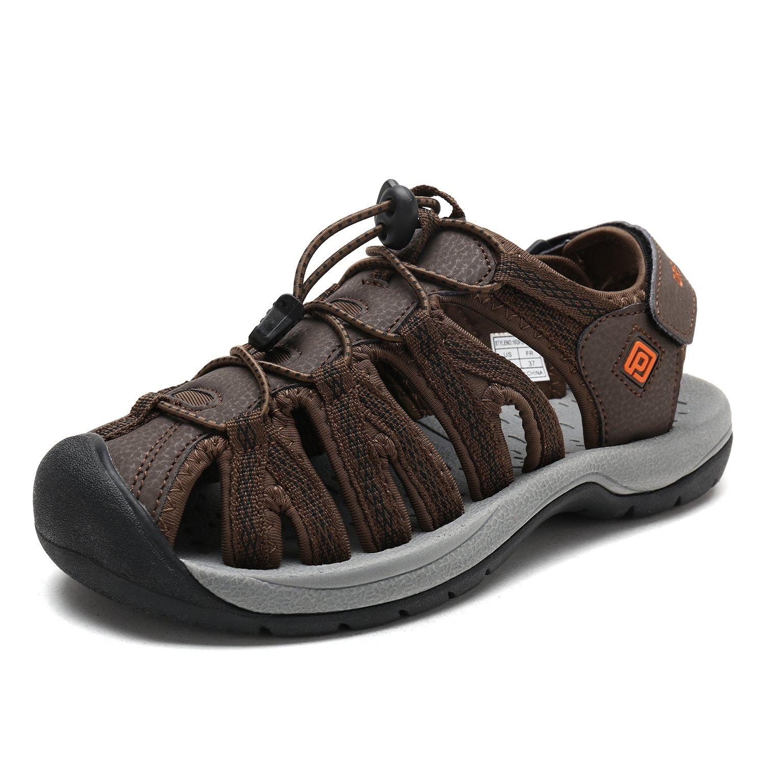DREAM PAIRS Women's 160912-W Adventurous Summer Outdoor Sandals B077GBRYYK 7 B(M) US|Brown Blk Orange
