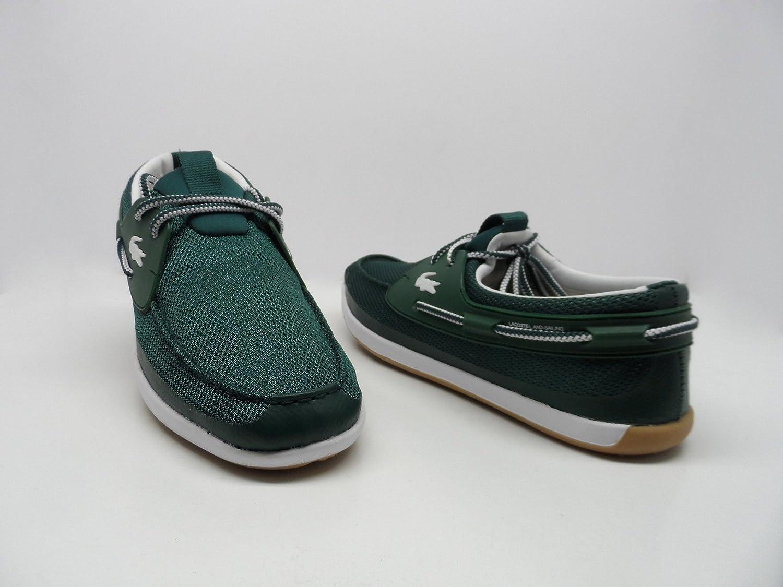 45d53ac710c52 Lacoste Men s L.andsailing REI SPM TXT Boat Shoe Dark Green Size 9.5 New   Amazon.ca  Shoes   Handbags