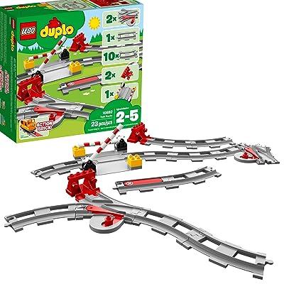 LEGO DUPLO Train Tracks 10882 Building Blocks (23 Pieces): Toys & Games [5Bkhe2002829]