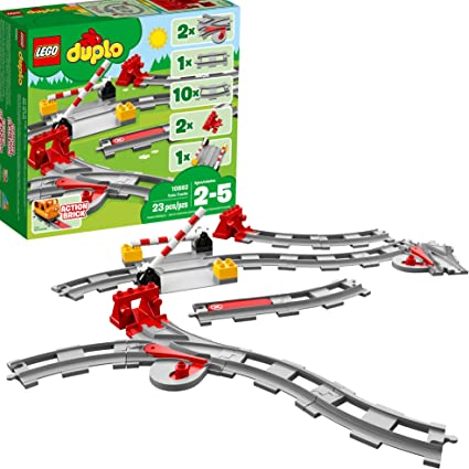 10882 LEGO Duplo Town Train Tracks 23 Pieces Age 2 New Release For 2018!
