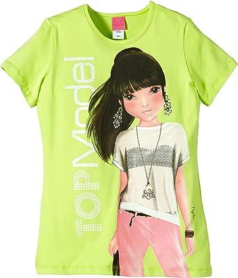 Top Model - Camiseta para niña, Talla 10 años (140 cm), Color Verde (Sharp Green): Amazon.es: Ropa y accesorios
