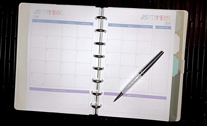 graphic about Discbound Planner Printables identified as : 2018 2019 2020 Month-to-month Calendar for Discbound