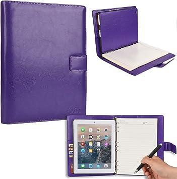 Funda para Apple iPad 2/3/4 con Cuaderno, Cooper FOLDERTAB Carcasa Tipo Cartera con planificador, libreta y Bolsillos para Zurdos y diestros (Púrpura): Amazon.es: Electrónica