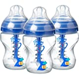 Tommee Tippee Advanced Anti-Colic Baby Bottle for Boys, 9 Ounce, 3 Count