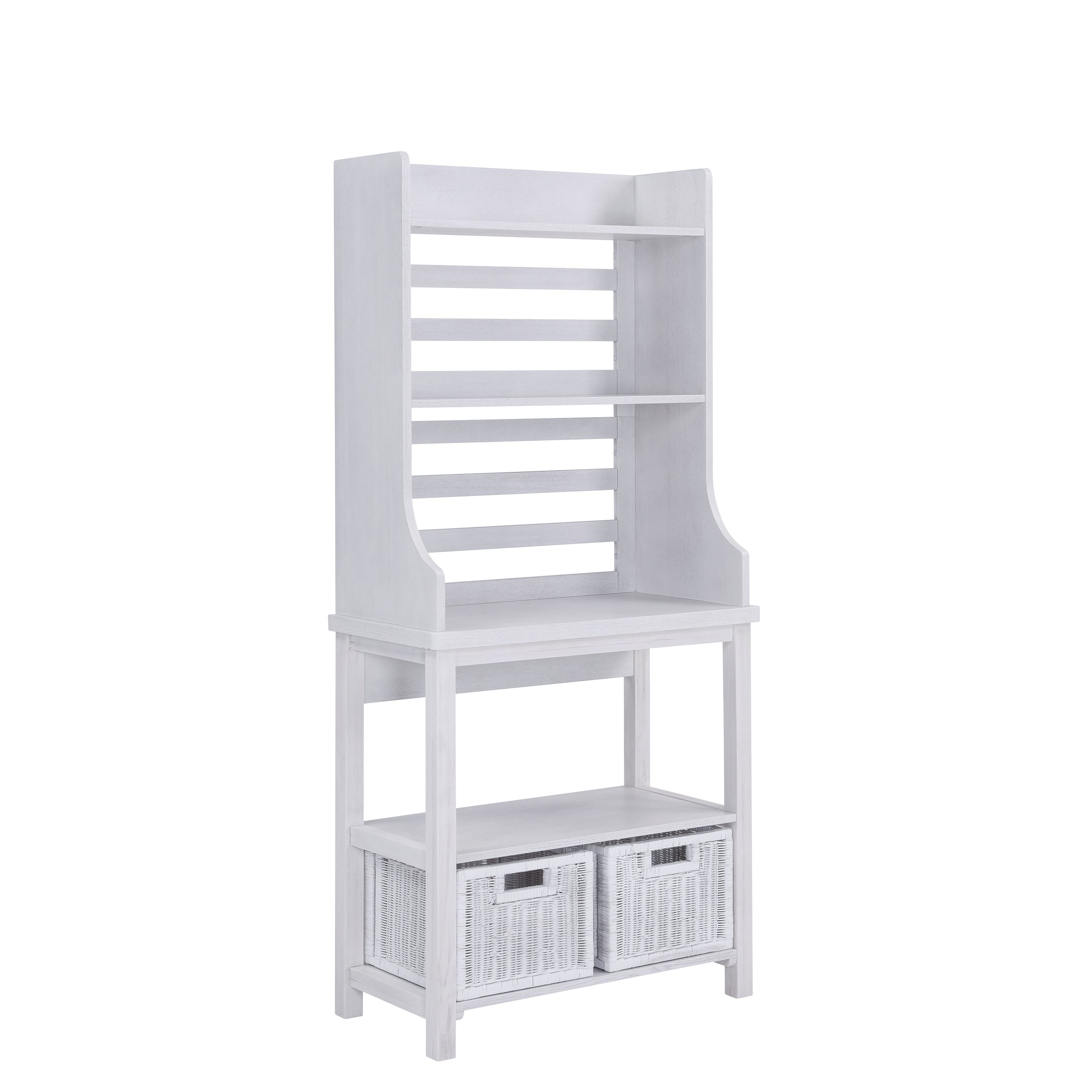 Furniture HotSpot – Bakers Rack – White Stain - 30'' W x 15'' D x 64.5'' H