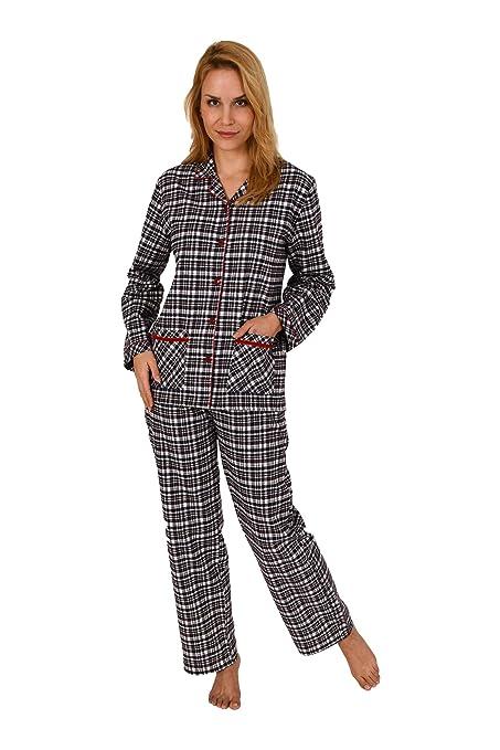 Normann Copenhagen Damen Flanell Pyjama Langarm Karodesign - 271 201 95 002