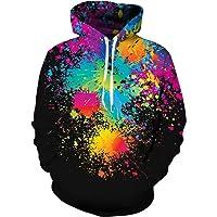 NEWISTAR Unisex Hoodies HD 3D Print Pullover Lightweight Sweatshirts with Pockets(S-4XL)