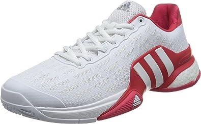 adidas Barricade 2016 Boost, Zapatillas de Tenis para Hombre, Blanco (Ftwbla/Ftwbla/Rojray), 51 1/3 EU: Amazon.es: Zapatos y complementos
