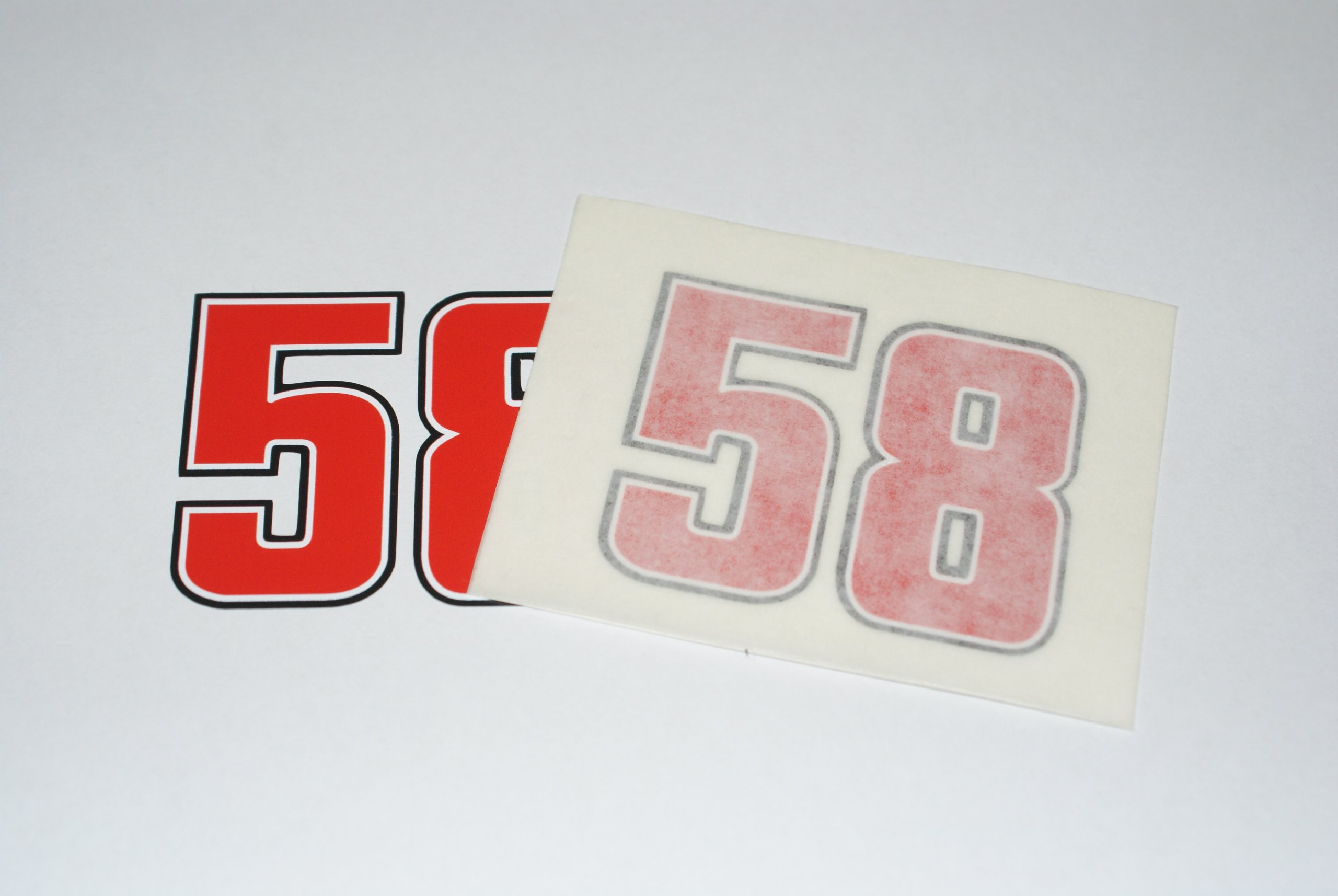 Rapro Graphics Marco Simoncelli Race Number 58 Decal Small