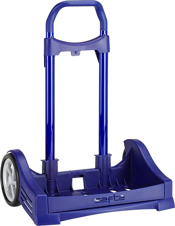 Safta Carro Evolution para Mochilas Escolares Plegable Ligero Resistente Diseño Único 400X280X850Mm, Azul: Amazon.es: Equipaje