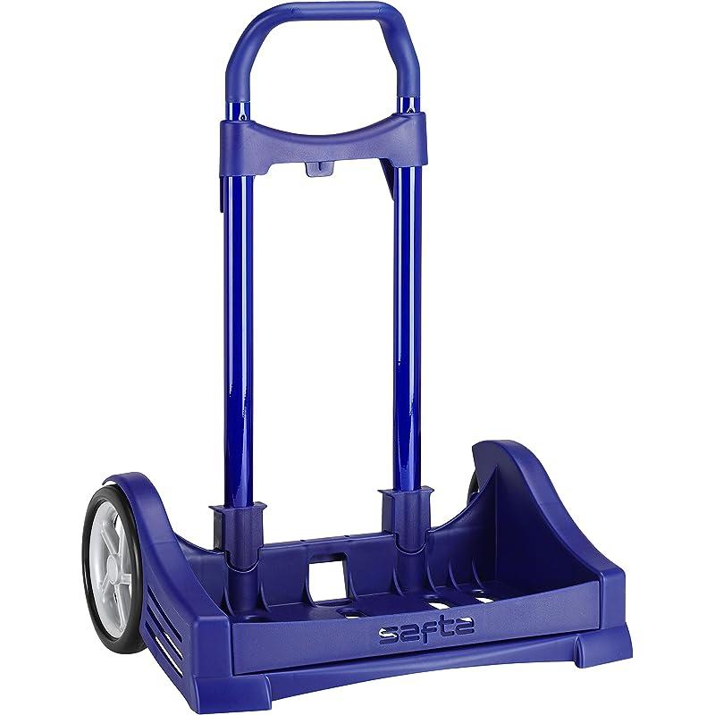 Safta Carro Evolution para Mochilas Escolares Plegable Ligero Resistente Diseño Único 400X280X850Mm, Azul