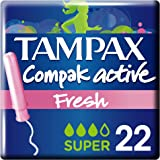 Tampax Compak Active Fresh - Tampons avec Applicateur en Plastique x 22 - Super - Lot de 3