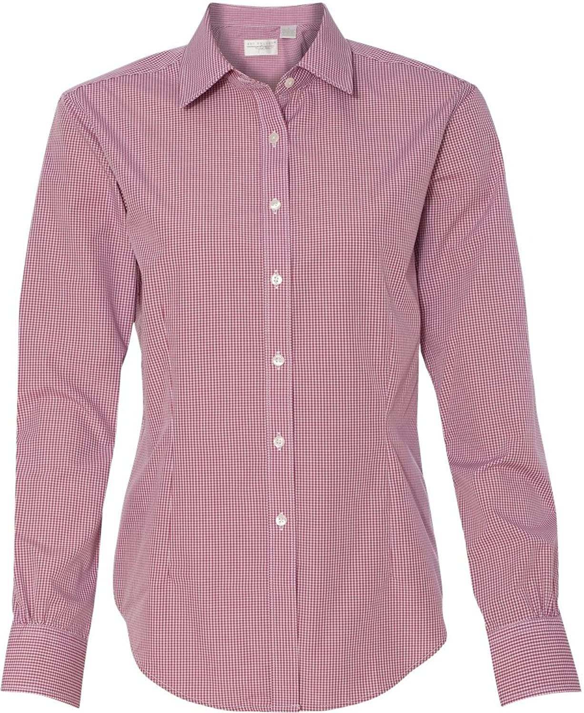 Van Heusen V0226 Ladies Long Sleeve Yarn Dyed Gingham Check
