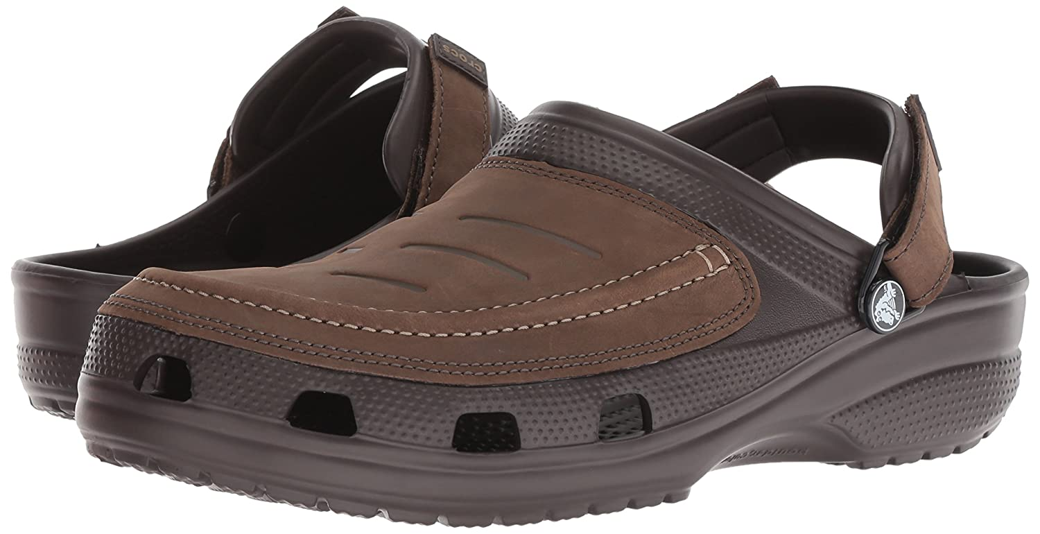 6918b3fceab0f crocs Men's Yukon Vista Clog M Brown Leather M8 (205177-22Z): Buy Online at  Low Prices in India - Amazon.in