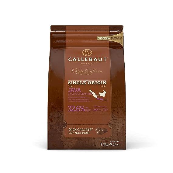 Callebaut Colección Origen - Java 32,6% pepitas de Chocolate con Leche (callets